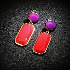 Rings`Ears Nails Golden Purple Red Rectangle Oval Class Retro C1