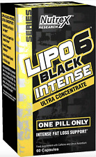 Nutrex Lipo-6 Black Intense Ultra Concentrate - 60 caps | Free 1st Class |
