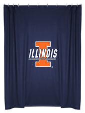 NEW University of ILLINOIS Illini Jersey Mesh Fabric Shower Curtain