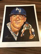 Larry Burright Union 76 Nick Volpe Vintage Print Los Angeles Dodgers 1962