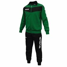 Givova Visa Tuta da ginnastica Uomo Multicolore (nero/verde) XL
