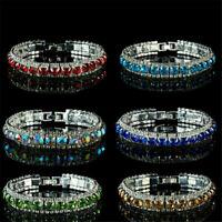 Fashion Full Crystal Zircon Bracelet Bangle Wristband Wedding Bridal Jewelry