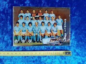 C1 Specchio Calcio Napoli con Maradona 1986 1987 quadretto anni 80 gadget vetro.