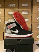 Nike Air Jordan 1 Mid Johnny Kilroy Men's Size 10.5 554724-057 Black Red Silver