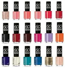 20 x RIMMEL 60 Seconds Nail Polish - 20 SHADES - Free Post - RRP £60 -