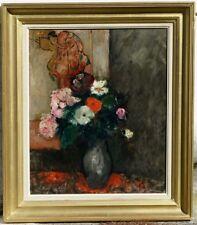 Juliette Cambier, 1933, Bénézit, Grosse Cote! Vase de Fleurs Fauviste!!