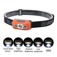 Waterproof USB Rechargeable LED Headlamp Headlight Head Lamp Torch Flashlight