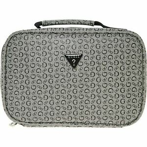 GUESS Junction Travel Women's Designer Lunch Bag Work School, Black/Grey