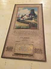 Vintage 1929 Leather Pocket Diary-Calendar-Maps-Notebook-written inside by owner