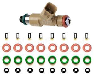 Fuel Injector Repair Kit O-Rings Filters Caps for Jaguar XJ8 XF XK S-Type 06-10