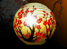 Paper Lantern Lamp Shade Red Blossom Oriental Light Decoration Home Deco DIY 13""