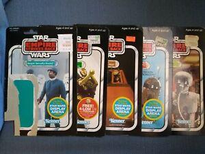 Star Wars Vintage Kenner Action Figure Cardbacks - Lot of 5 C-3PO R2-D2 2-1B etc