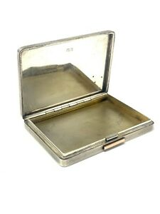 Amazing Rare Heavy C1940 Solid Silver & Gold Dunhill Card Case 109g #448