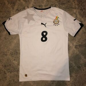 ghana 2010 World Cup Home Football Shirt Essien 8 Small