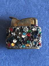 Antique Pocket Cigarette Lighter,circa 1955, Jewelled Casing
