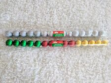 Mini Christmas Ornament Balls Red Silver Gold Green 30 pc