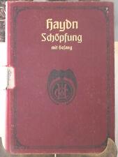 Joseph Haydn Peters Schopfung Songbook Creation Music Oratorio Solos 7619 Vintag
