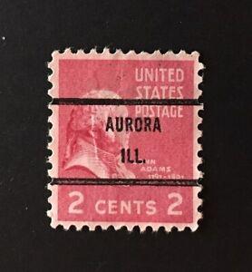 Aurora, Illinois Precancel - 2 cents Prexie (U.S. #806) IL
