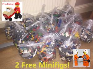 1kg Lego Bricks parts Job lot ideal for Christmas Starter pack & Free Figures