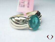 2.00 CTW GREEN EMERALD RING  in 14K YELLOW GOLD