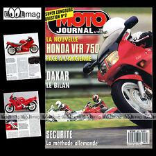 MOTO JOURNAL N°925 FANTIC 307, HONDA VFR 750 F, YAMAHA SR 500, PARIS-DAKAR 1990