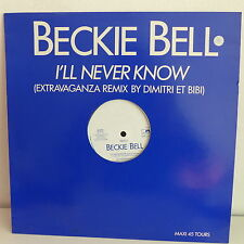"MAXI 12"" BECKIE BELL I'll never know 2122 PROMO"