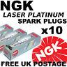 10x NGK Laser Platinum SPARK PLUGS SPARKPLUGS BMW M5 5.0 lt E60 05--> No. 4471