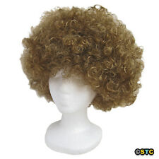 Economy Brown Afro Wig ~ HALLOWEEN 60s 70s DISCO CLOWN COSTUME PARTY CURLY FRO