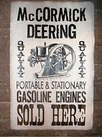 "(295) NOVELTY POSTER HIT & MISS GAS ENGINE McCORMICK-DEERING SOLD HERE 11""x17"""