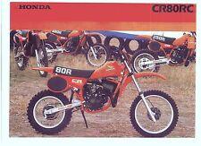 1982 HONDA CR80RC 2 Page Motorcycle Brochure NCS