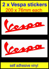 red Vespa stickers x2 scooter bike The Who mod decals self adhesive vinyl laptop