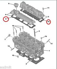 Rocker Cover Gasket Set Citroen C3 C4 Peugeot 206 207 307 1.4 16V 0249E2 0249C5