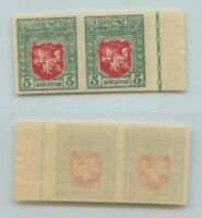 Lithuania 🇱🇹 1919 SC 60 Mi 49U MNH imperf pair . d8129