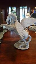 Large Pegasus Winged Horse Sculpture Greek Mythology Statue Soapstone