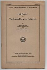 """1929 Booklet """" Soil Survey of The Oceanside Area California """"/ Large Color Map"""