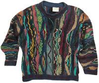vtg 90s AUTHENTIC COOGI vaporwave mosaic biggie HIP HOP indie seapunk sweater XL