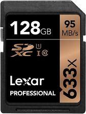 Lexar SDXC 128GB Professional 95MB/s V30 U3 UHS-I Flash Memory Card sm UK
