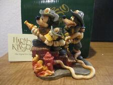 Harmony Kingdom Disney Firefighter Mickey and Company Donald Goofy LE 750 RARE