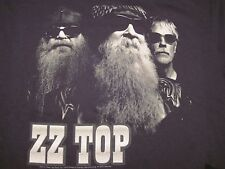 ZZ Top, 2013, Tour, Group, Photo, 100% Cotton, Black, Short Sleeved, Shirt, LG