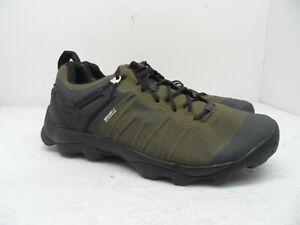 KEEN Men's Venture WP Trail Hiking Shoe Olive/Black 9M