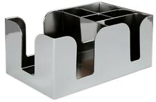 More details for chrome plastic bar caddy/ bar aid organiser for straws and cocktail napkins tidy