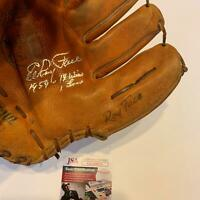 Roy Elroy Face Signed Vintage 1950's Game Model Baseball Glove With JSA COA
