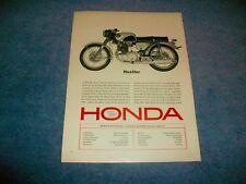 """1964 Honda Super Hawk CB-77 Vintage Motorcycle Ad """"Hustler"""" CB77"""