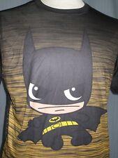 Baby Batman Adult Medium Black Striped T-Shirt ( M The Dark Knight Super Hero )