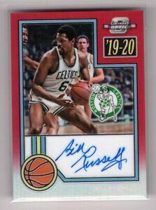 2019-20 Contenders Optic Bill Russell Red Prizm On Card Auto #05/25 Celtics 6396