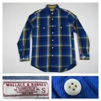 Wallace and Barnes Mens Small Plaid Button L/S Front Heavyweight Shirt