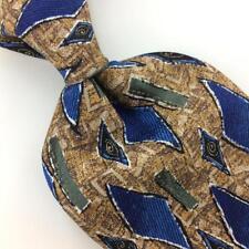 "XL 62"" WOODWARD TIE DIAMONDS BROWN Green BLUE Silk Necktie Ties I11-692 New"