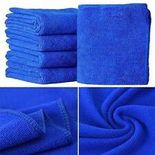 10Pcs Blue Soft Absorbent Wash Cloth Moto Auto Care Microfiber Cleaning Towels