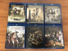 The Lord of the Rings & The Hobbit Trilogies Blu-ray Lot Collection