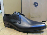 H by Hudson Mclain Black Mens Lace Up Formal Calf Leather Shoe